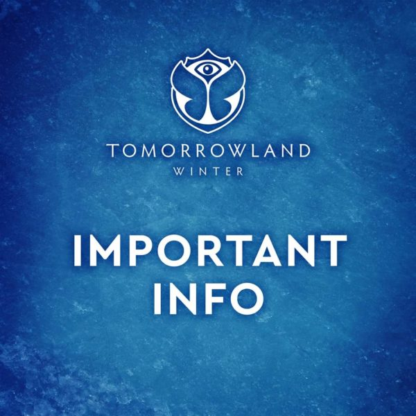 Фестиваль Tomorrowland Winter отменен!